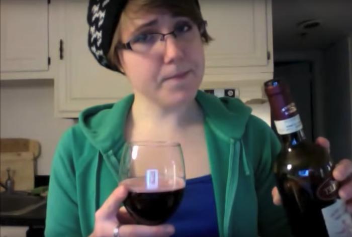 A still from a 2011 episode of My Drunk Kitchen.