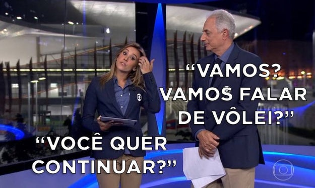 O climão ao vivo da Cris Dias com o William Waack no
