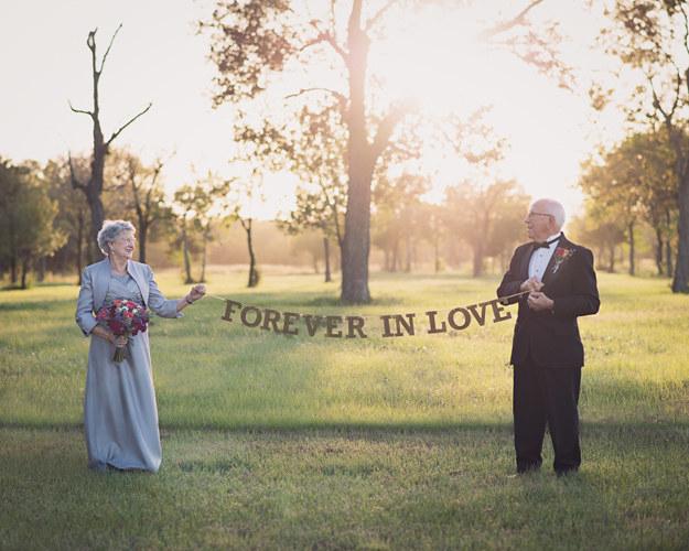 El 12 de octubre, Ferris y Margaret se pusieron un esmoquin y un vestido, respectivamente, para recrear su gran día.