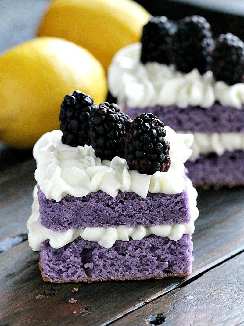 Peasandpeonies Vanilla Purple Cake With Lemon Buttercream