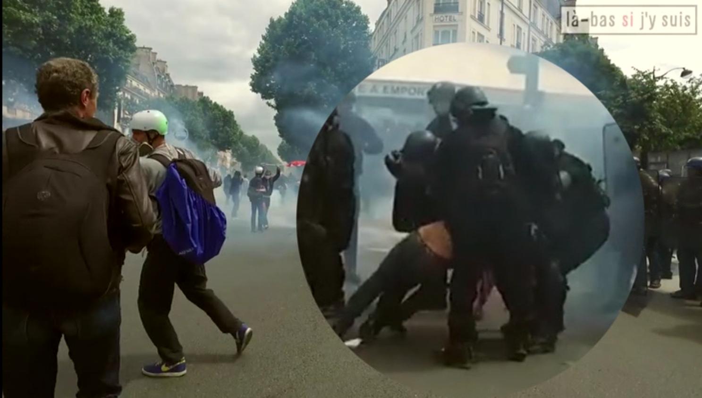 Manifestants interpell s enqu te sur de faux t moignages de vrais policiers - Coup de poing dans le dos ...