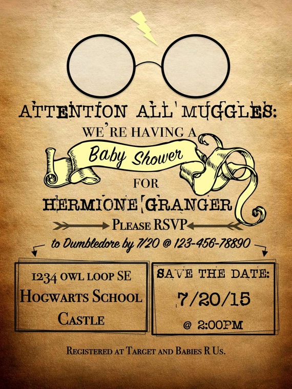 Send Out Some Adorable, Harry Potter Themed Invitations.
