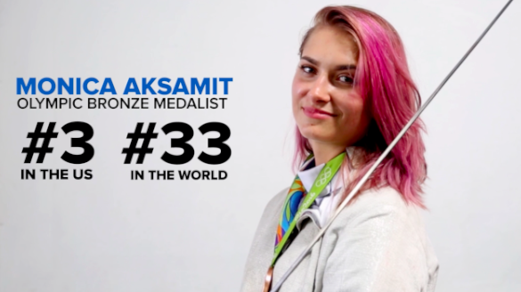 We asked Monica Aksamit, an Olympic bronze medalist, to grace us with her fencing abilities and challenge some regular people to a duel.