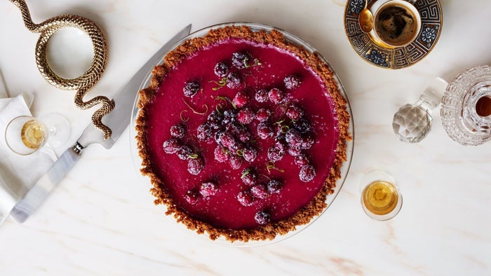 A gingersnap crust with a cranberry-lime filling? What more do you need? Recipe here.