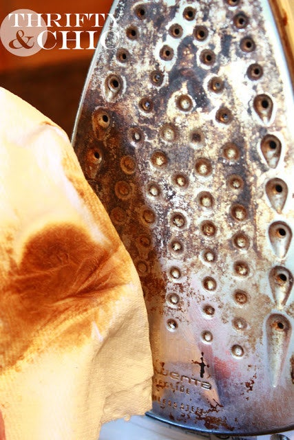 Make sure you don't leave any weird stains on your light-colored clothes and learn how to clean your iron here.