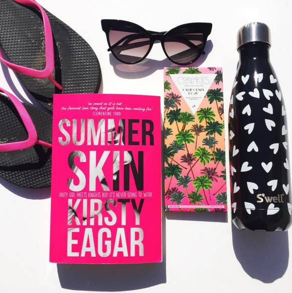 """I read Summer Skin by Kirsty Eagar a few months ago and it made me wish two things: that it was summer and that I was back at university. Being a YA novel, this book is super easy to read, but it also has a fun, ~flirty~ side that makes it perfect for this time of year. It makes you want to drink, dance, and kiss people."" —Gyan Yankovich"