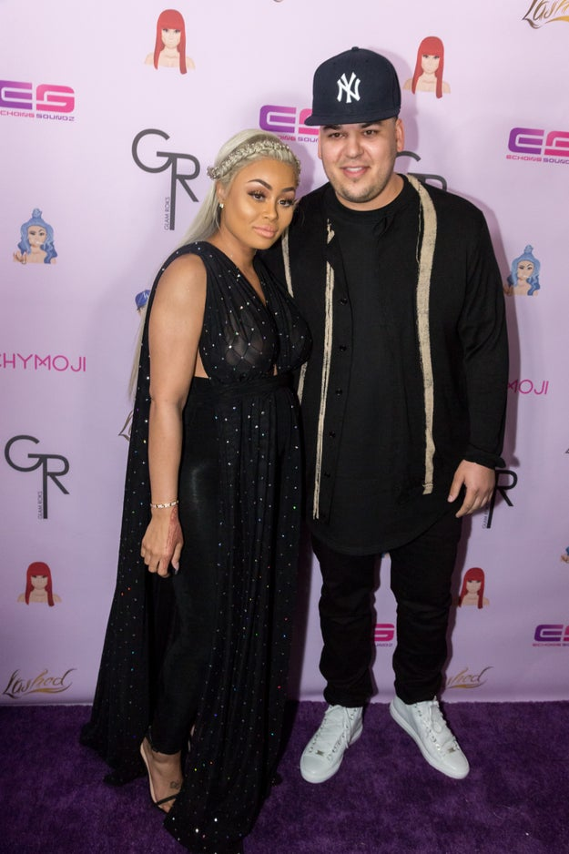 This is Rob Kardashian. And this is Blac Chyna. They are currently engaged and expecting a daughter. There's been a lot of drama surrounding the couple — Rob is a member of the ancient Kardashian/Jenner clan, who can trace their roots all the way back to 1980's Calabasas.