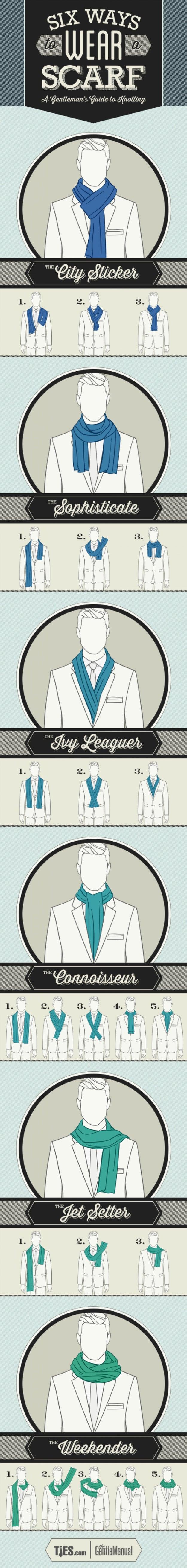 Six super ways to wear a scarf.