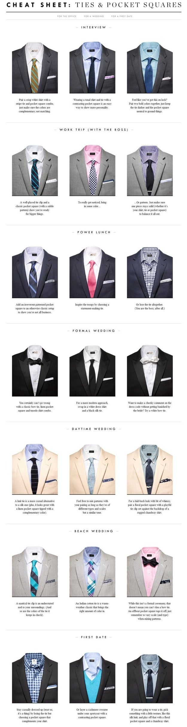 Pair your pocket square with your tie — perfectly.