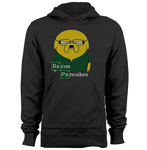 This sweatshirt because they'll take some bacon and they'll put it in a pancake, bacon pancakes, that's what it's gonna make.