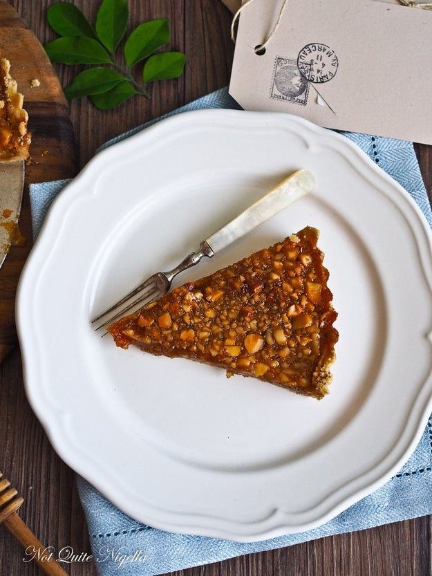 Salted Honey Macadamia Tart