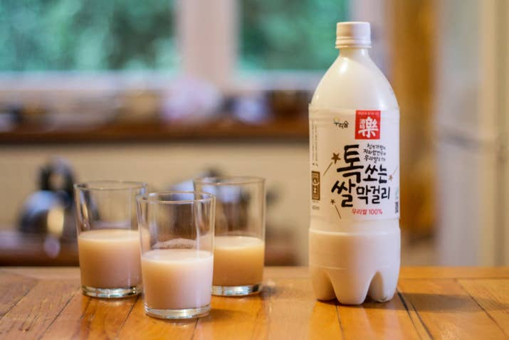 What is it? Sweet rice wine.Milky and sweet, this wine drink tastes pretty similar to Yakult. Though you can hardly taste the alcohol in it, it's more potent than beer, so indulge with caution.