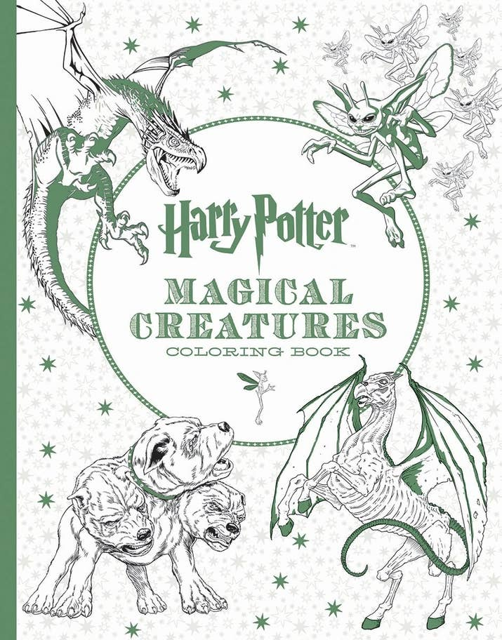 Plus A Coloring Book Filled With Magical Creatures From The Harry Potter Universe