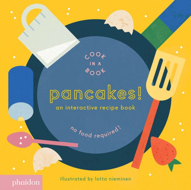 This interactive cookbook that'll teach kids all the joys of making pancakes.