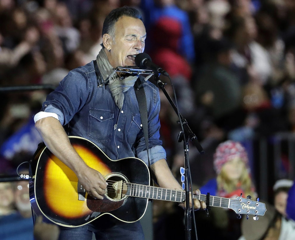 Bruce Springsteen performed and shared his hope that voters would come out in support of Clinton and democracy.