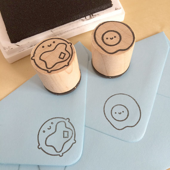 These stamps that'll let them leave their breakfast mark on everything.