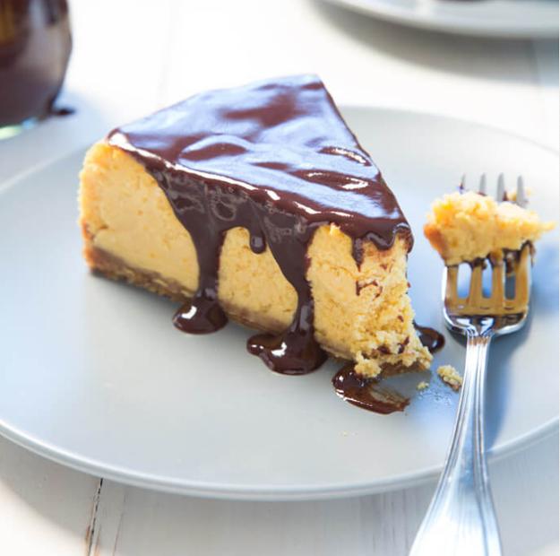 Chocolate-Covered Pumpkin Cheesecake