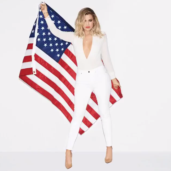 """Back in March, Khloe wrote on her app: """"No matter what candidate you support for the next presidential election, you have to admit that it's f*cking AWESOME that a woman is up for the job!!! Hillary Clinton deserves a big 'DAAAAAAAMN, Gina!' for being the first to get this close. So dope."""""""