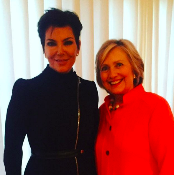 And over the weekend, Kris Jenner came out in support of Clinton.