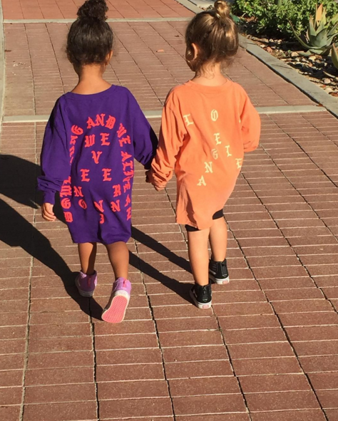 """Today, Kourtney posted a photo on Instagram of her daughter Penelope and her niece North holding hands with the caption: """"For our future, I'm with her."""""""