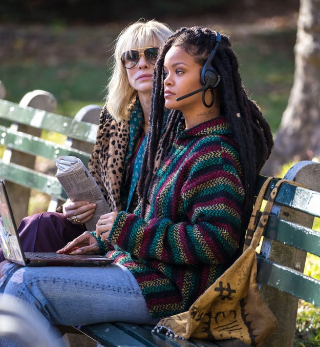 Rihanna's character, it seems, is some kind of stealth hacker or technology expert — or at least that's what I'm guessing based on her laptop and headset??