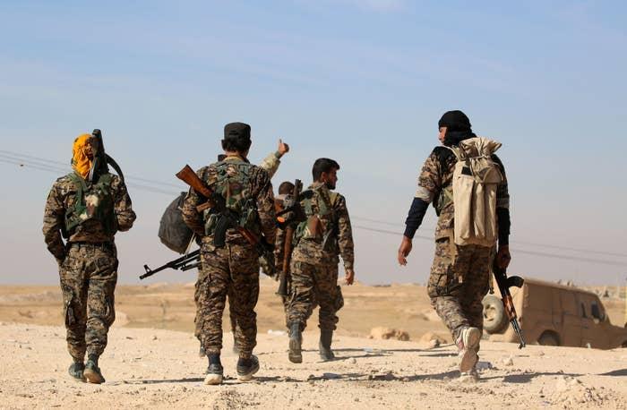 US-backed Kurdish forces north of Raqqa.