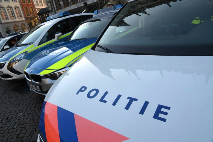 Police cars from Germany and the Netherlands