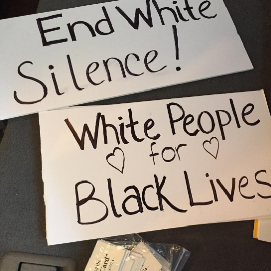 If you're white and want to educate fellow white people about racial injustice, support Showing Up for Racial Justice (SURJ).