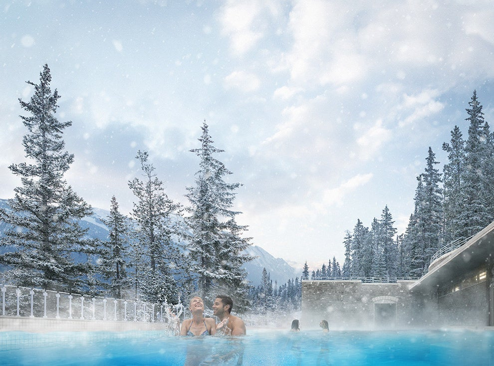 Cozy up in the Banff hot springs.