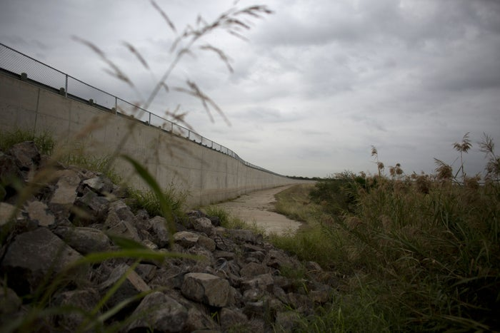 A section of border wall in Mission, Texas