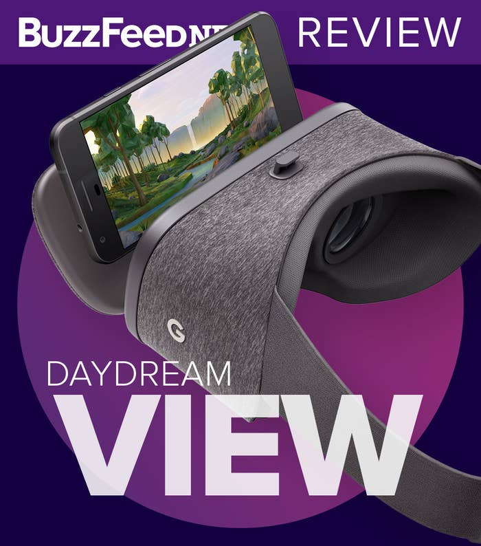 Google really wants to make virtual reality A Thing — even with regular nongaming folk — and the company hopes that its new affordable, smartphone-based VR headset, Daydream View, will do just that.Daydream View, which begins shipping on Nov. 10 for $80, is a fabric-covered virtual reality headset that requires a Daydream View–ready smartphone. Right now, the only Daydream-compatible devices are the Pixel and Pixel XL, the Google-branded Android smartphones launched in October.I've spent nearly a week with a Daydream View review unit and a Pixel running Daydream software. After visiting virtual museums, pseudo-skydiving, exploring far-flung planets, and hunting demon overlords, I think that the View is a great introduction to VR and what it's capable of, but its success is contingent on whether or not more content will come to it. While Daydream is not nearly as immersive as premium hardware like the HTC Vive or Oculus Rift, the headset goes beyond what other phone-based VR experiences can offer, thanks to one killer feature: its handheld controller, with which one can tilt, swivel, and move around in their virtual world. It's a good start, but like other VR experiences, it's lonely in Daydreamlandia. There isn't a ton of stuff available yet, so it gets boring fast.