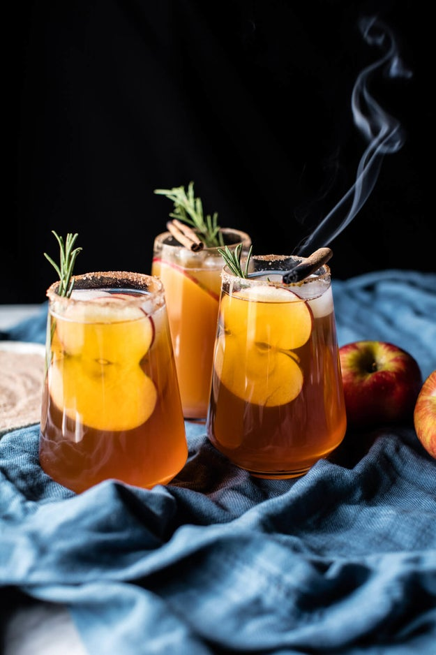 Smokey Harvest Apple Cider Margaritas