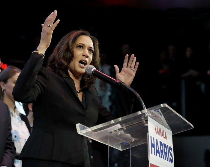 California's Attorney General Kamala Harris defeated a fellow Democrat by a little more than a third the vote and was backed by both President Obama and Vice President Biden. She's mixed race, born to an Indian mother and a Jamaican-American father. She's now the first black US senator from California, second black woman to serve as senator, and first Indian-American senator.