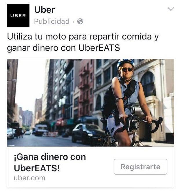 Cuando a los de Uber se les olvidó que las motos necesitan tener motor.
