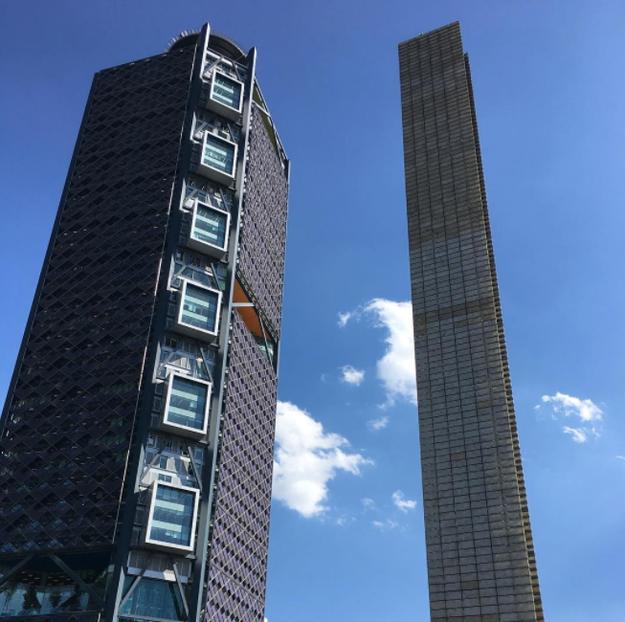 La banda ofreció un concierto en el helipuerto de la Torre Bancomer, el tercer edificio más alto de México.