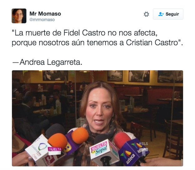 Ante todo suceso de actualidad, Andrea tuvo las mejores declaraciones.