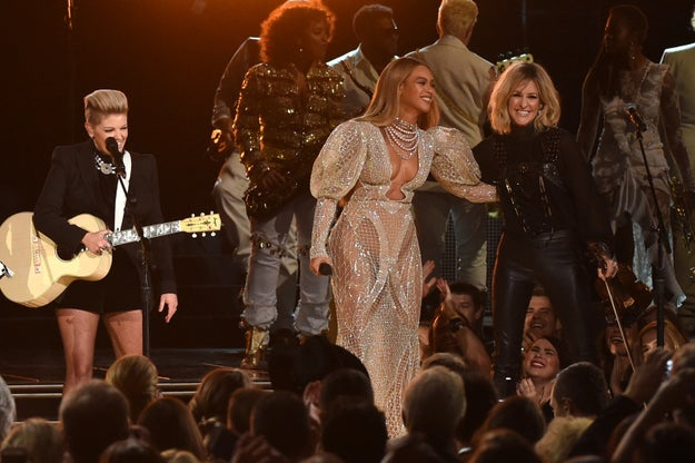 She performed with the Dixie Chicks at the CMAs for a broadcast audience that was racist and unwelcoming to her, and she still killed it because she knew her worth and her roots.