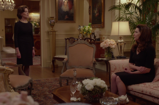 While grieving, of course she also gets into a gigantic fight with her daughter, Lorelai.