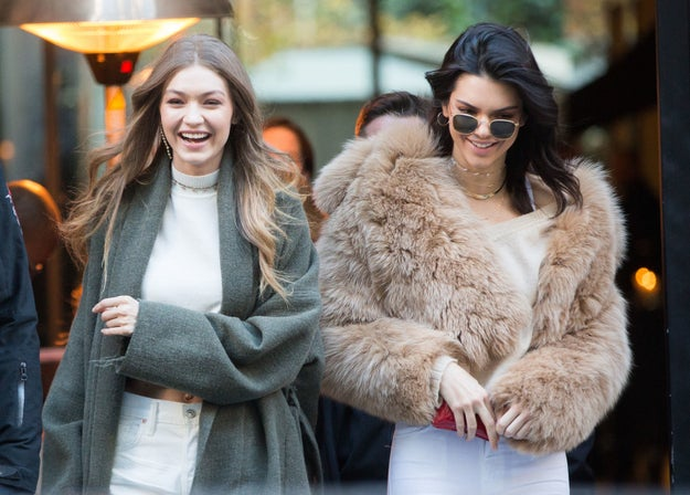 Gigi Hadid and Kendall Jenner went shopping in Paris.
