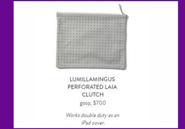 For when you can't get caught with just any old iPad cover, how about a $700 perforated iPad clutch?