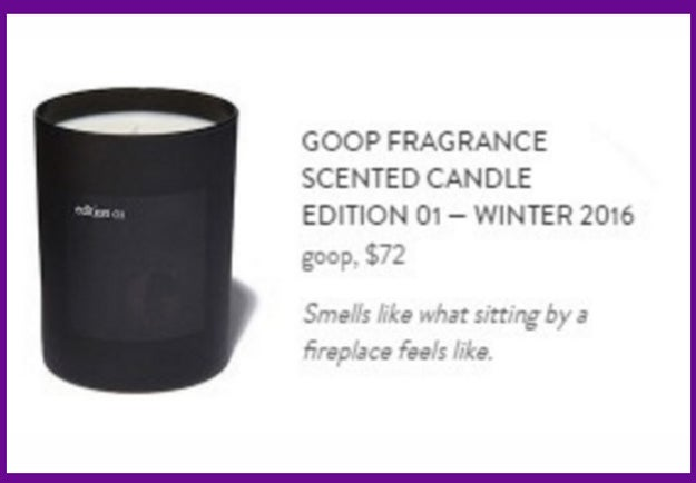 For when the sound of one hand clapping is ~so 2015~, gift your BFF with a limited-edition, $75 Goop candle: