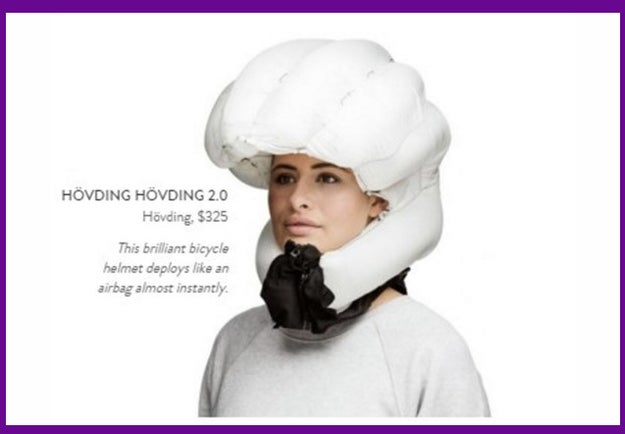 To show how concerned you are for a friend's safety, here's an airbag helmet for $325: