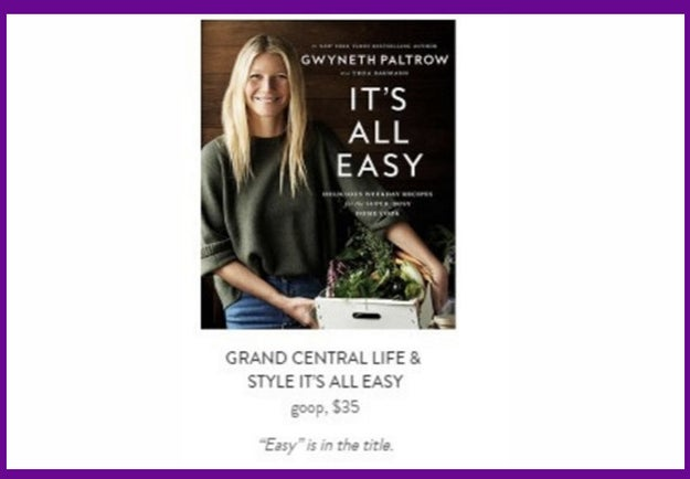 If all else fails, just calm the hell down with a $35 instructional book from Gwyn herself, y'know, because reading her free website isn't good enough: