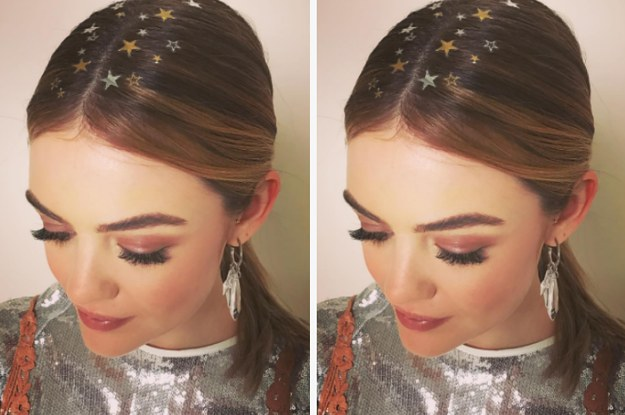 This Lucy Hale Hair Tattoo Is Perfect For The Holidays