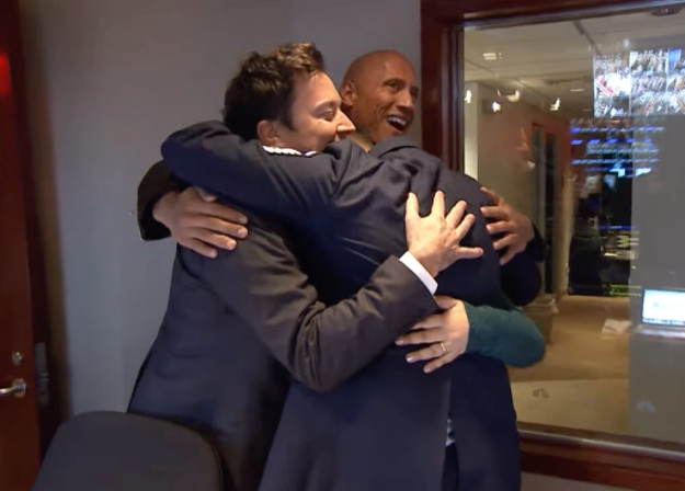We all need a group hug from The Rock right now.