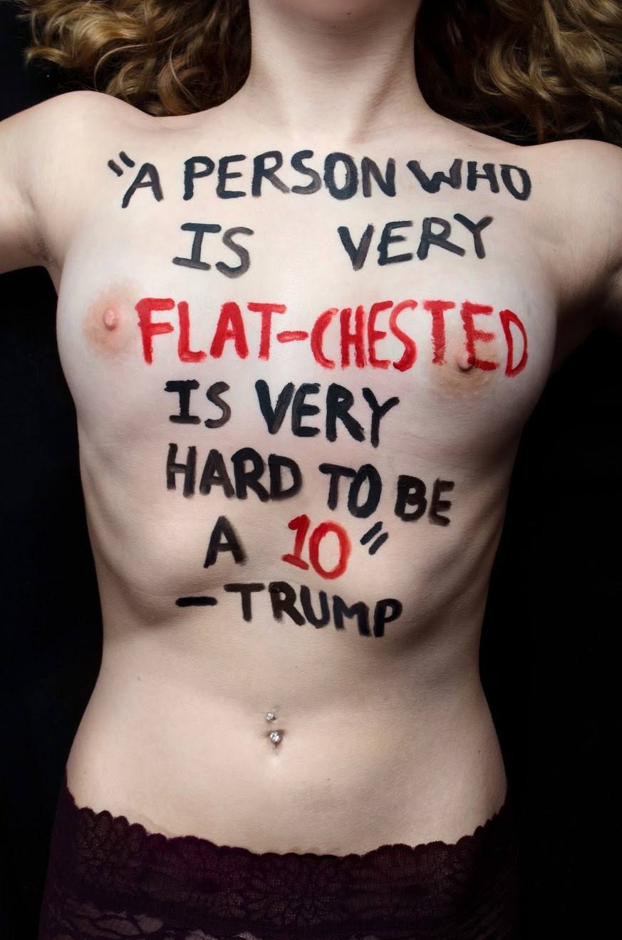 "Aria Watson, an 18-year-old student at Clatsop Community College in Oregon, told BuzzFeed News she created the series, titled ""#SignedByTrump,"" for her final project in her Introduction to Photography class."