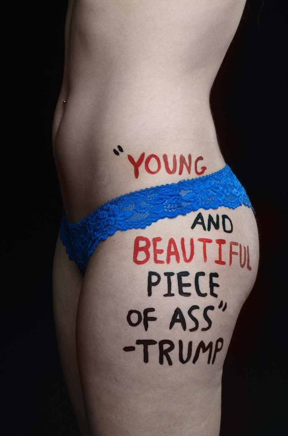 A very NSFW photo series featuring quotes President-elect Donald Trump has said about women has gone viral on Tumblr this week.