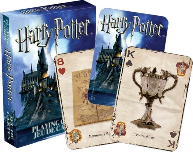 Playing cards to pass the time between Harry Potter Freeform marathons.