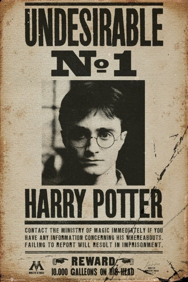 A TBT poster to remind you of the time Harry was wanted in Azkaban.