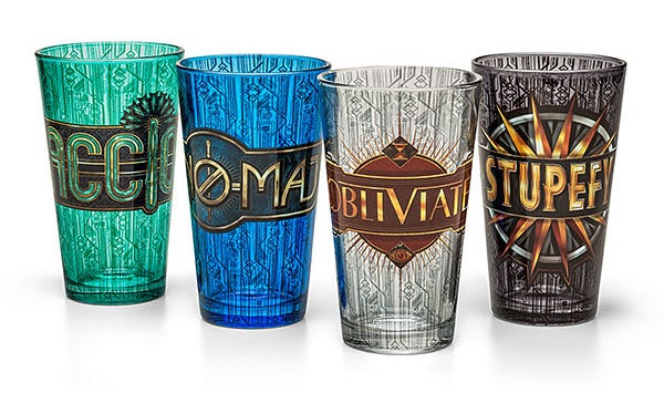 A pint glass set that is perfect for pumpkin juice.